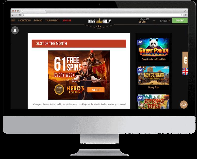 king billy bitcoin casino free spins bonus