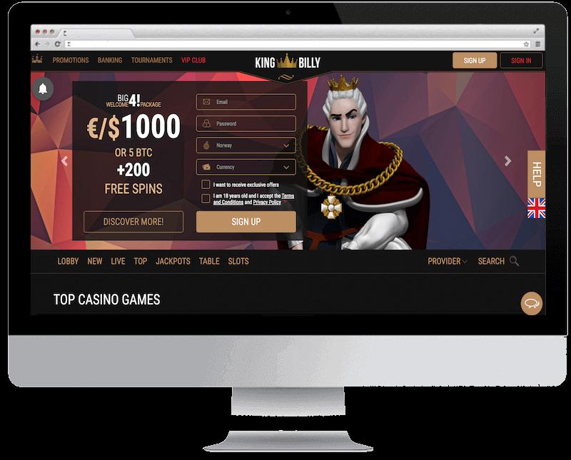 king billy bitcoin casino no deposit bonus spins