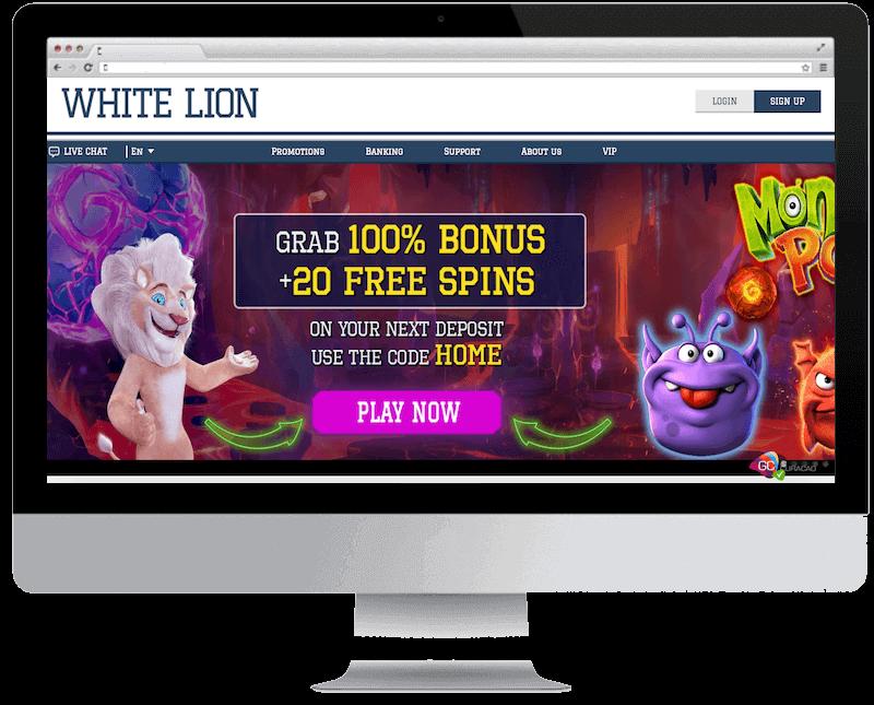 white lion bets bitcoin casino no deposit bonus