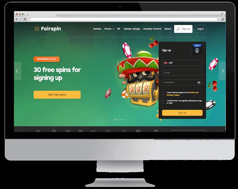 fairspin bitcoin casino free spins bonus