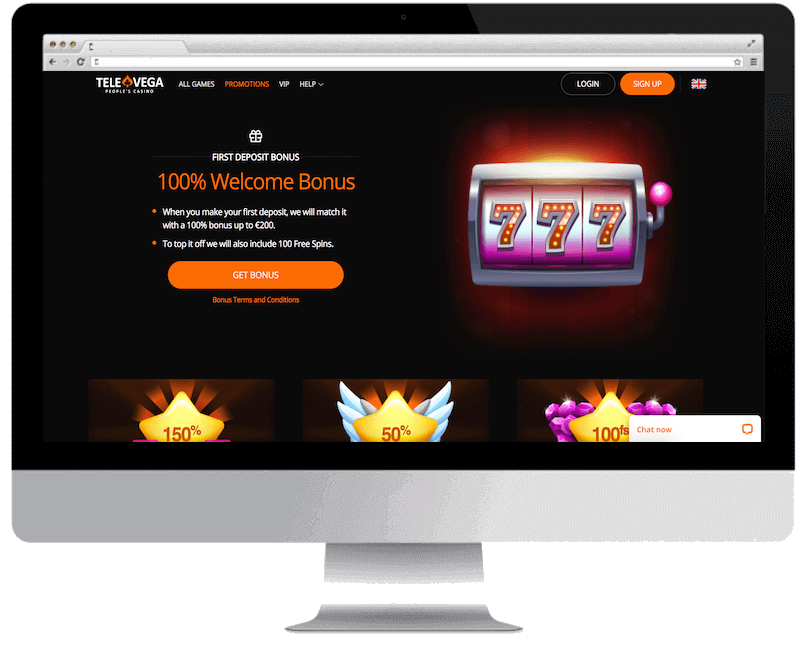 televega bitcoin casino free spins bonus