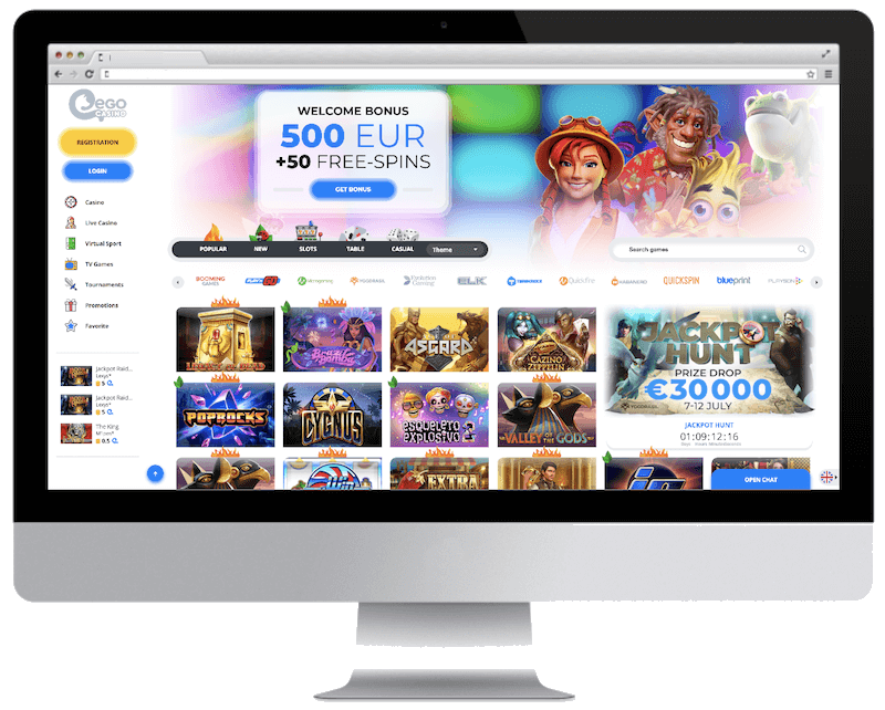 ego bitcoin casino free spins bonus