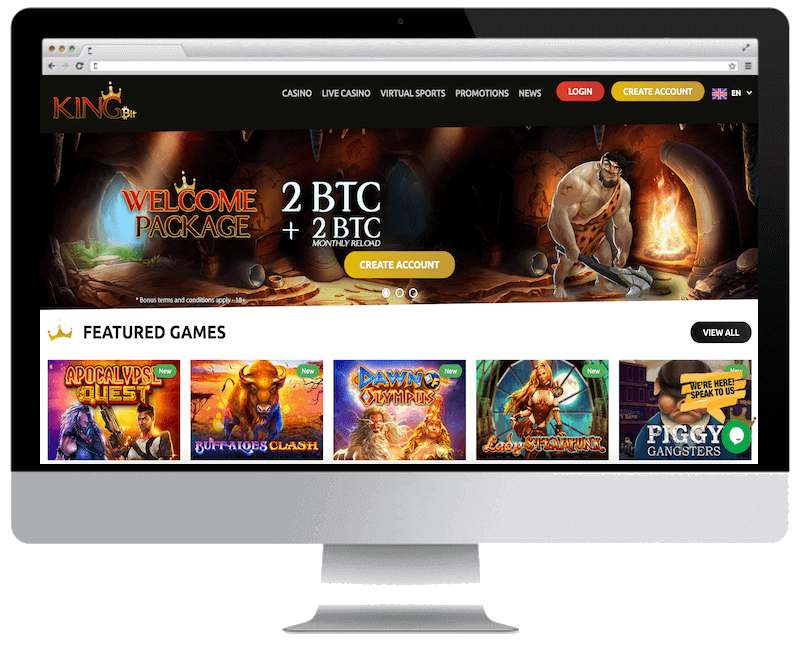kingbit bitcoin casino free spins bonus