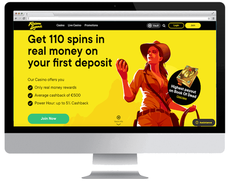 fortunelegends bitcoin casino free spins bonus