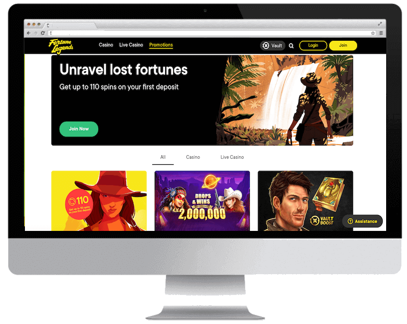 fortunelegends bitcoin casino no deposit bonus spins