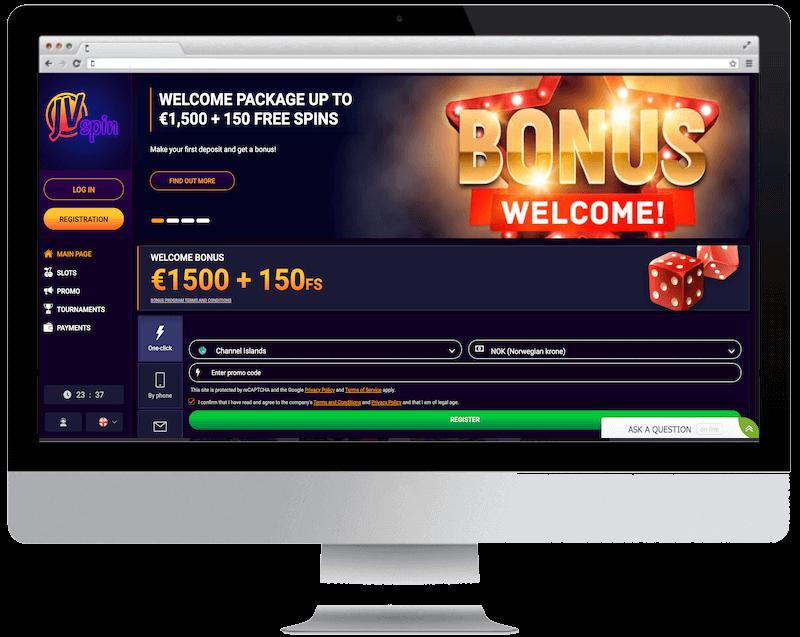 jvspin bitcoin casino free spins bonus
