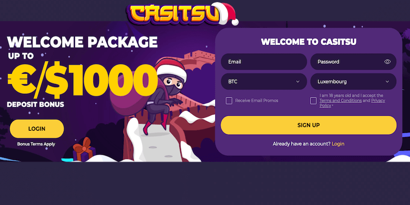 casitsu bitcoin casino free spins no deposit bonus